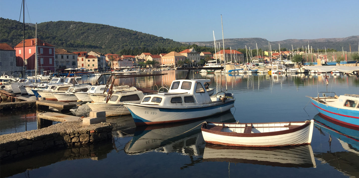 Early Morning in the bay at Stari Grad, Hvar