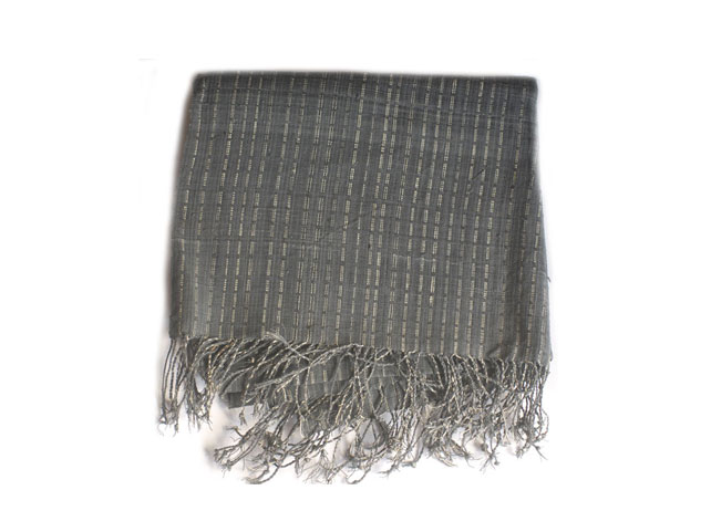 Hand Woven Scarf -charcoal grey