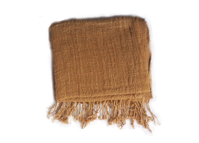 Hand Woven Scarf - Tan